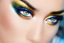 THE EYES....YES THE EYES. WOW! / Beauty in the made up eyes..A different look, art, design! / by JoYcE