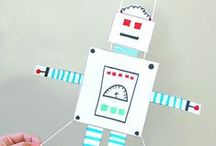 PLAY - Robots / A board with fun games and activities related to robots!! / by Encourage Play | Coping Skills for Kids