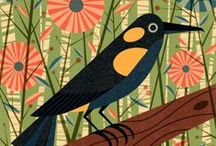 ART - birds / I love birds and especially art based on birds.  Here are some of my favourites.