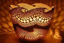Art: Ceramics light fixtures, lamps