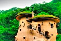 Houses of the Earth / tree houses, cob houses, hobbit houses etc, pretty much houses made out of the earth :)