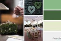 Matrimoni a colori - Wedding color inspirations / Annalisa Lombardini wedding planner, event designer - http://annalisalombardini.wordpress.com/  Tavolozze di colori che diventano realtà  Color palettes coming true...