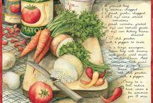 sketch food / Disegni di ricette o alimenti o bevande