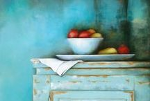 Still Life Paintings / Original Oil & Acrylic Still Life Paintings by contemporary Canadian artist Nicole Daniah Sidonie