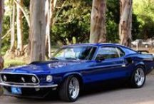 Old Ford Mustangs