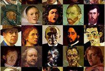 Artistas x artistas = artistas al cuadr(ad)o / Autorretratos de artistas, retratos de artistas