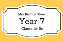 EFL Year 7 - Anglais 6e / EFL documents and lessons shared on my blog and my Tpt Store for year 7 students.