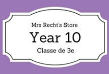 EFL Year 10 - Anglais 3e / EFL documents and lessons shared on my blog and my Tpt Store for Year 10 students