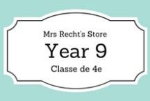EFL Year 9 - Anglais 4e / EFL documents and lessons shared on my blog and my Tpt Store for year 9 students.