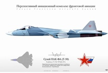 Sukhoi PAK FA  / Open source drawings on the new frontline fighter for the Russian and Indian Air Forces.