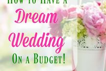 Gorgeous wedding on a budget / Frugal but amazing wedding ideas for decor, attire, beauty and more!