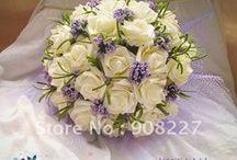 bruidsboeketten, corsage's en bruidssieraden / verschillende soorten bruidswerk