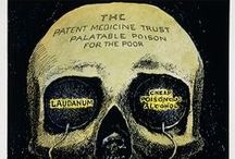 """Medical Creepies and Oddities / Including Medical Ephemera, Health Posters, """"Medicines"""" now known to be poison or drugs, and assorted weirdness involving the medical field. / by Elizabeth"""