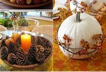 Thanksgiving Decorations and Food