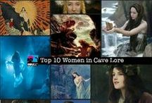 Women in Cave Lore / Women have been mention in lore related to caving all over the world. We hope you enjoy these pins EWLS fans.