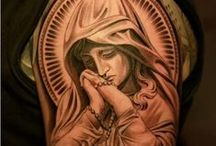Tattoos - The Virgin / Tatoos inspired by an appreciation of the Virgin Mary.