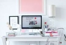 Ideas for a small office / Decorating ideas and tips for creating a chic, pretty office in a small space