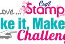 Take It Make It Blog Challenge / Lots of eye candy from our talented DT! Join in the fun at www.craftstamper.blogspot.co.uk