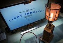 upcycled steampunk lighting / rust. industry. machines. parts, brass, bakelite and copper. half art, half function. creative lighting / art / design from LightIndustry.