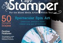 December 2016 issue / Closeup pictures of all projects in the December 2016 issue of Craft Stamper Magazine