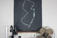 Kitchen blackboard and key holder
