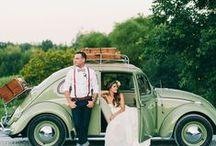 wedding car posing