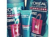 #FibralogyWorks / L'Oreal's Fibralogy shampoo, conditioner and booster themed board! Did wonders to my hair so I thought I should share!