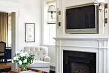 Over the Fireplace & Fireplace Mantles / Get inspired with these creative and beautiful ways to style and decorate above your fireplace or fireplace mantle.