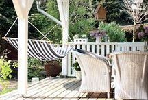Front Porch / Get inspired by these charming farmhouse style front porches. These front porches feature all of the summer essentials for outdoor relaxation and entertaining.