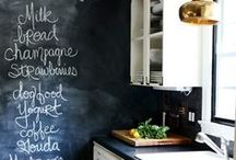 Chalkboards / Let your creativity out with these easy to make chalkboards and chalkboard writing tips.