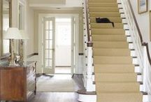Stairs / Don't overlook the stairs when decorating your home. You can have a lot of fun adding character and interest to a boring set of stairs.