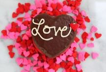 Edible Hearts / Heart inspired edibles to sweeten your romantic meal for two.