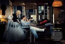 Rare Window / Tobey Maguire and Carolyn Murphy reprise the classic Hitchcock film to bring the theatrical fifties thread—something woven throughout the new season's collections—out into the world. 