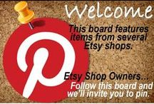 Etsy Share Board - Open to Contributors / This board celebrates the artisans of Etsy.  You are welcome to join and contribute to the board.    Simple rules - you can only pin three items at a time.  You must wait for others to pin before you can pin additional items.  You can find me on Etsy at www.etsy.com/shop/WeHaveWreaths.  To be invited to pin, you must follow this board and convo me on Etsy with the EMAIL ADDRESS associated with your Pinterest account.  I'll then send you an invitation to pin.  :)  Thanks!