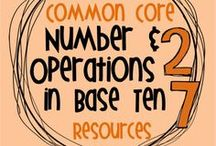 Common Core NBT Resources / Resources for the Number and Operations in Base Ten (NBT) strand of the Common Core standards, grades K-5.  These boards are no longer open for collaborators.  / by Christine Cadalzo- Making Meaning