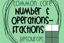 Common Core NF Resources / Resources for the Number and Operations- Fractions strand of the Common Core standards, grades 3-5.  These boards are no longer open for collaborators.