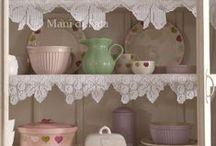 mutfak için ... / mutfak  için düşünülmüş zarif dantel ve etamin desenleri,servis tasarımları...