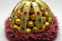 Букеты из конфет, бабочки украшалки