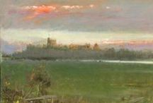 Albert Goodwin RWS- Artist / 1835-1942.  British watercolourist renowned for his superb depiction of sunsets, landscapes and seascapes.