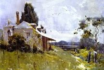 Sir Arthur Streeton - Artist / 1867-1943.  Australian landscape artist knighted for his work with the Australian Impressionism School - also known as the Heidelburg School.