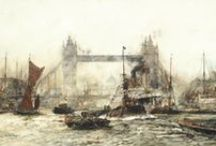 Charles Dixon - Artist / 1872-1934.  British maritime artist, widely exhibited, including at the Royal Academy, and in many publications.