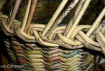 pletení papíru / ruční práce