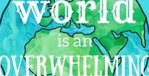 the world overwhelms me / simplifying an overwhelming world