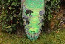 Custom surf art in Tofino / Surf Art in Tofino, BC.  Canada's surf mecca.