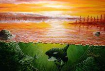Acrylic Paintings-Tofino, BC