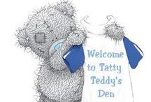 ¸¸.ه❤ه Tatty ʕ•́ᴥ•̀ʔ Teddy ه❤ه.¸¸ / Tatty Teddy (also known as Me to You Bears) is the brand name of a collection of teddy bears made by the Carte Blanche Greetings Ltd. They were first created in 1987 and appeared in their current guise in 1995. / by KW︵‿✿
