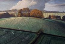 JAMES LYNCH: There Never Was A Finer Day 2014, Jonathan Cooper / Landscape paintings in egg tempera inspired by Dorset, Somerset and Wiltshire, and the poems of Edward Thomas.