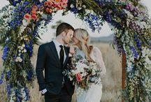 Spring Wedding / Wedding Inspiration and decor ideas | spring wedding | wedding styling | wedding inspiration | yellow | lavender  | spring flowers | wild flowers