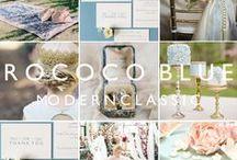 Rococo Blue: romantic wedding stationery / Inspiration and decor ideas