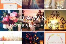 Dawn: Modern Classic Wedding Stationery / Inspiration and decor ideas